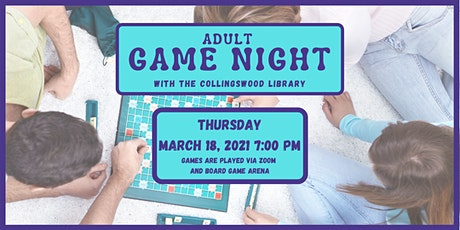 March Adult Game Night (virtual) tickets