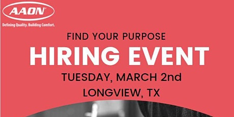 AAON Hiring Event tickets