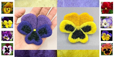 Needle Felt a Pansy Flower – Evening Workshop tickets
