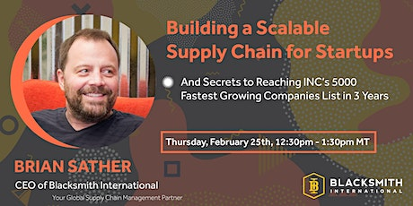 [LIVE Masterclass] Building a Scalable Supply Chain for Startups tickets