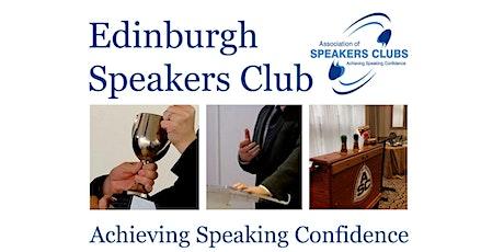 Edinburgh Speakers Club Meeting tickets