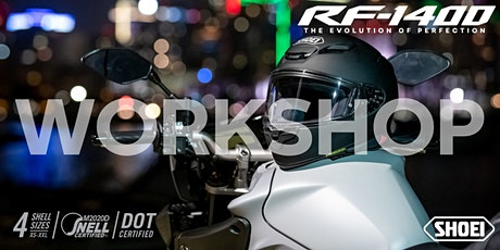 NEW SHOEI RF-1400 WORKSHOP tickets