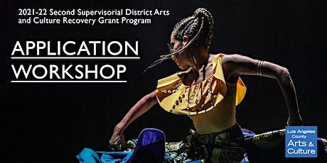 2021-22 2nd District Arts & Culture Grant Program Application Workshop tickets