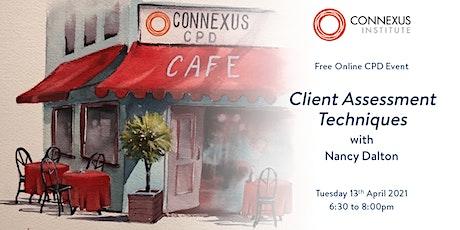 Connexus Institute CPD Café: Client Assessment tickets