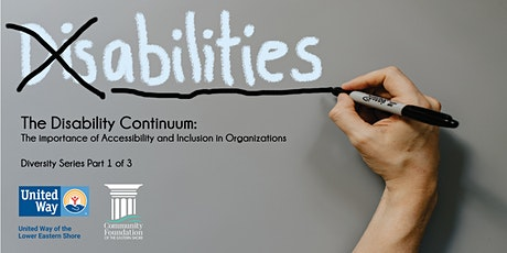 Diversity Series 1 of 3: The Disability Continuum tickets
