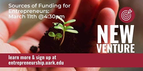 NEW VENTURE SERIES: Sources of funding for Entrepreneurs tickets