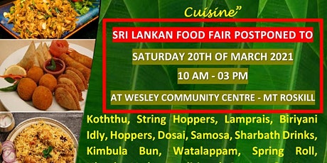 Sri Lankan Food Fair 2021 tickets