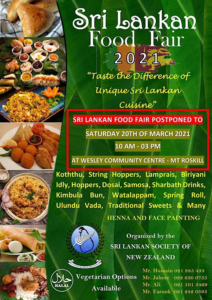 Sri Lankan Food Fair 2021 image
