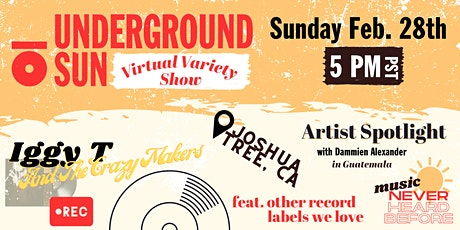 Underground Sun Virtual Variety Show tickets