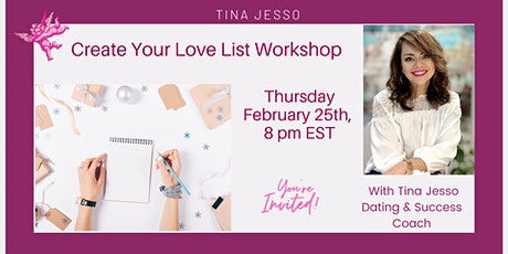 Create Your Ideal Love List Workshop! ❤️ entradas
