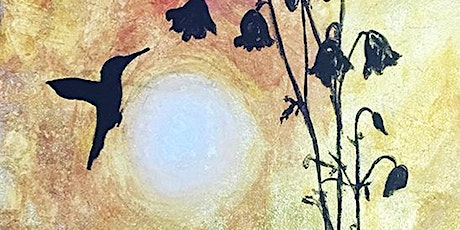 HUMMINGBIRD ON GOLD LEAF CREATE | PAINT | ONLINE tickets