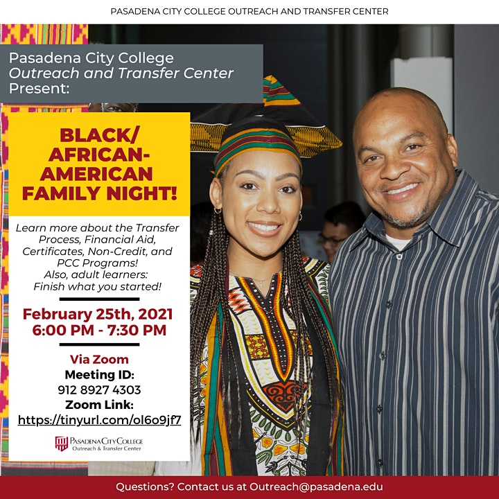 Black / African American Family Night at PCC image