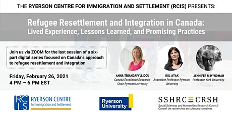 RCIS Digital Series: Refugee Resettlement and Integration in Canada #6 tickets