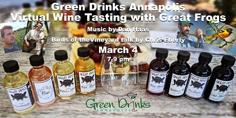 Green Drinks Virtual Wine Tasting  with birds and music tickets