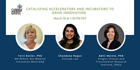Roundtable: Catalyzing Accelerators and Incubators to Drive Innovation tickets