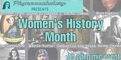 "Phynnecabulary Presents: ""Women's History Month"" tickets"