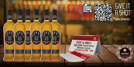 #FreeSipsAtHWC  with SQRRL Peanut Butter Whiskey tickets