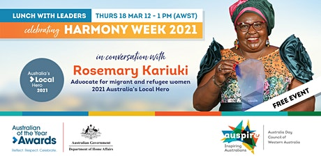 ONLINE: Lunch with Leaders - Harmony Week tickets