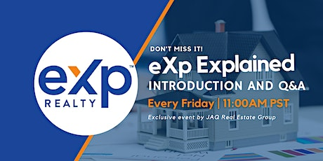 eXp Explained - Introduction and Q & A tickets