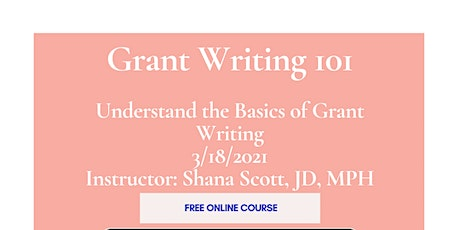 Grant Writing 101 tickets
