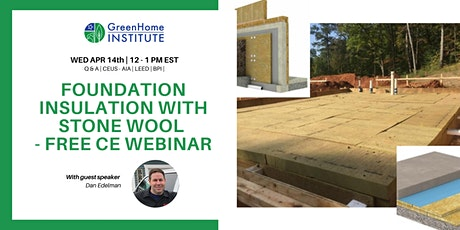 Foundation Insulation with Stone Wool - Free CE Webinar tickets