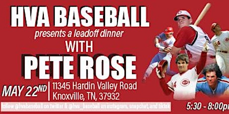 A night with Pete Rose tickets