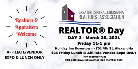 2021 Realtor Day  March 26th - Lunch/Affiliate Vendor Expo ONLY tickets