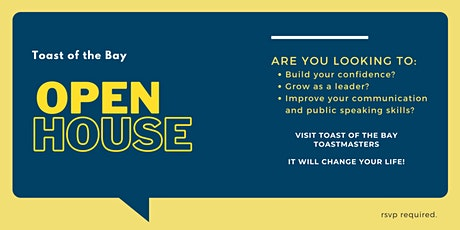 Toast of the Bay Toastmasters Virtual Open House tickets