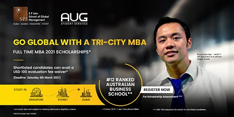 Study Tri-City MBA in Sydney, Singapore, and Dubai with SP Jain tickets
