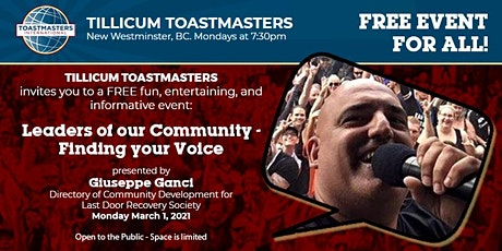 Find Your Voice - Tillicum Toastmasters tickets