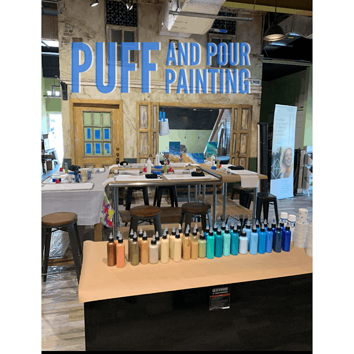 Pour Painting with The Missing Muse image