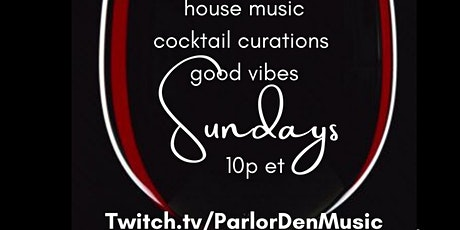 #MusicAndWine Every Sunday 10p est tickets