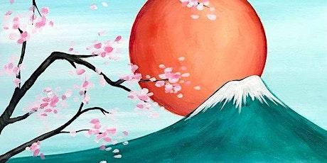 Virtual Paint & Sip: Warm Japanese Moon tickets