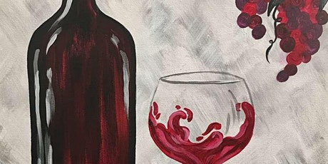 Virtual Paint & Sip: Divine Red Wine tickets