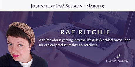 CANCELLED - Meet the Journalist with Rae Ritchie tickets