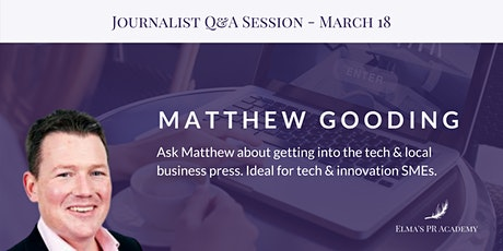 Meet the Journalist with Matthew Gooding tickets