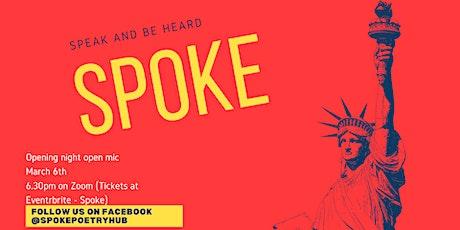 Spoke Open Mic Night - Launch Party tickets