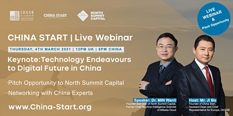 Technology Endeavours to Digital Future in China &  Investment Pitch Tickets