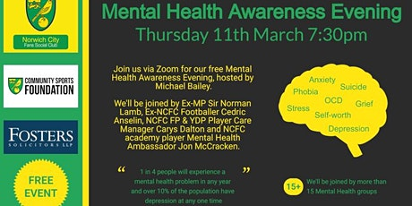 Norwich City Fans Social Mental Health Evening tickets
