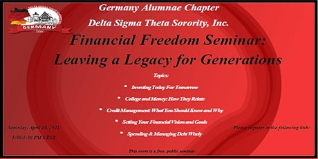 Financial Freedom: Building a Legacy for Generations tickets