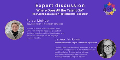WLDE: Expert Discussion, Recruiting Localization Professionals Post-Brexit tickets