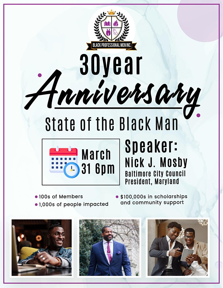 Black Professional Men - 30 Year Anniversary: The State of the Black Man image