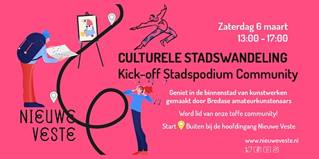 Culturele Stadswandeling: Kick-off Stadspodium Community tickets