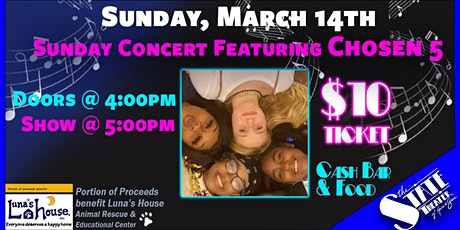 Sunday Concert Featuring Chosen 5 tickets
