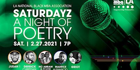 Saturdayz... A Night of Poetry tickets