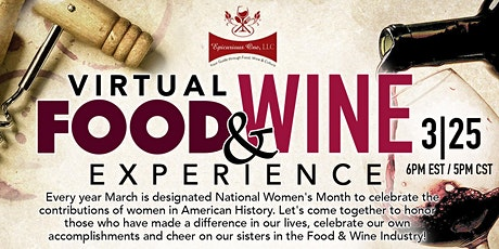 Women's Month Virtual Food & Wine Experience tickets