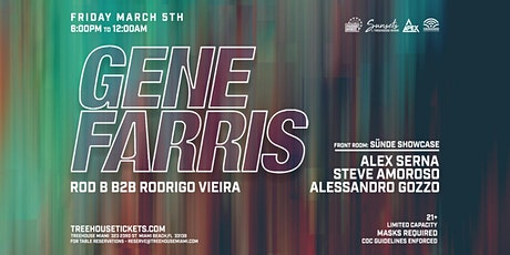 Sunsets @ Treehouse Miami w/ Gene Farris tickets