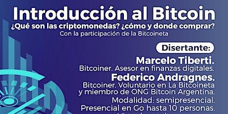 Charla Introducción al Bitcoin entradas