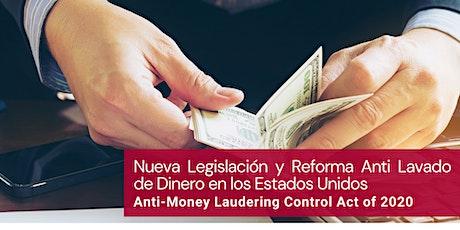 Nueva Legislación y Reforma Anti-Lavado de Dinero entradas