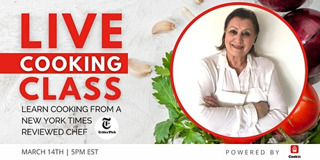 Live Cooking Class: Persian/Afghan cuisine by NY Times reviewed Chef tickets